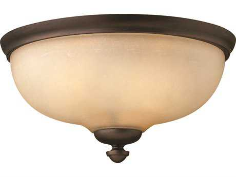 Hinkley Lighting Thistledown Victorian Bronze Three-Light Incandescent Flush Mount Light
