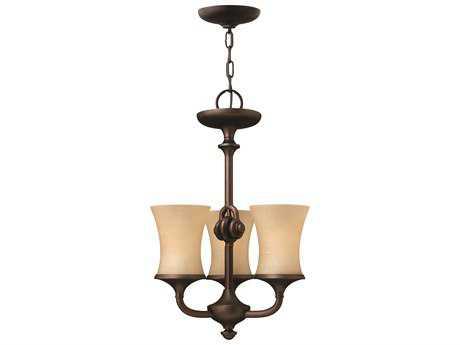 Hinkley Lighting Thistledown Victorian Bronze Three-Light 15.25 Wide Chandelier