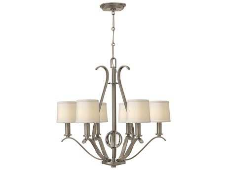 Hinkley Lighting Clara Brushed Nickel Six-Light 27.75 Wide Chandelier