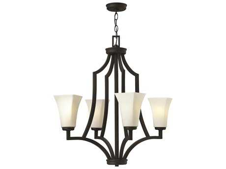 Hinkley Lighting Spencer Textured Black Four-Light 25.75 Wide Chandelier