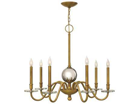 Hinkley Lighting Everly Heritage Brass Seven-Light 33.75 Wide Chandelier