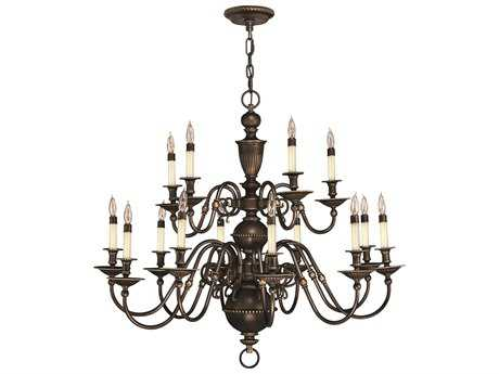 Hinkley Lighting Cambridge Olde Bronze 15-Light 35.5 Wide Grand Chandelier