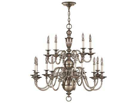 Hinkley Lighting Cambridge Pewter 15-Light 35.5 Wide Grand Chandelier