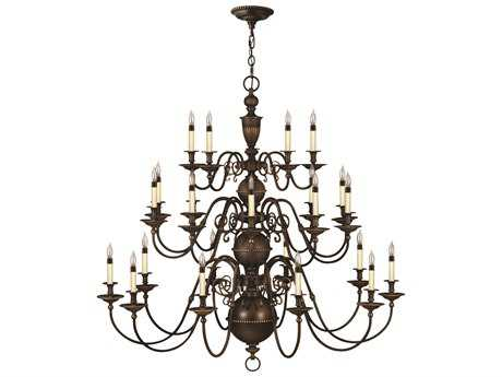 Hinkley Lighting Cambridge Olde Bronze 25-Light 48.5 Wide Grand Chandelier