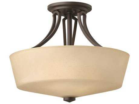 Hinkley Lighting Parker Buckeye Bronze Two-Light Incandescent Semi-Flush Mount Light HY4431KZ