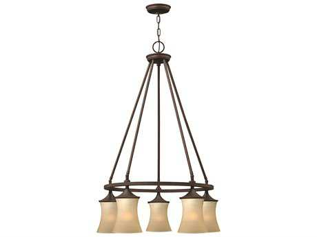 Hinkley Lighting Thistledown Victorian Bronze Five-Light 25 Wide Chandelier