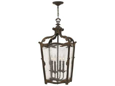 Hinkley Lighting Sorrento Aged Iron Four-Light Mini-Chandelier