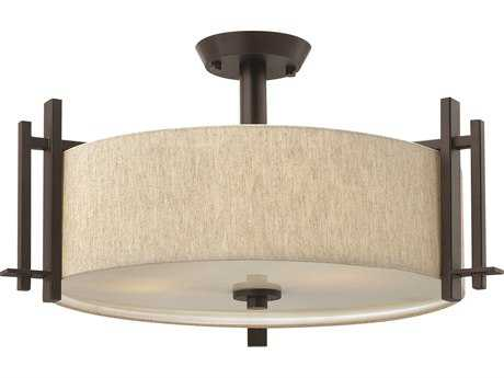 Hinkley Lighting Sloan Regency Bronze Three-Light Semi-Flush Mount Light HY4543RB