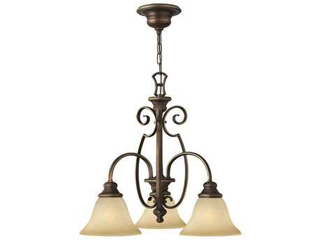 Hinkley Lighting Cello Antique Bronze Three-Light 22.6 Wide Chandelier