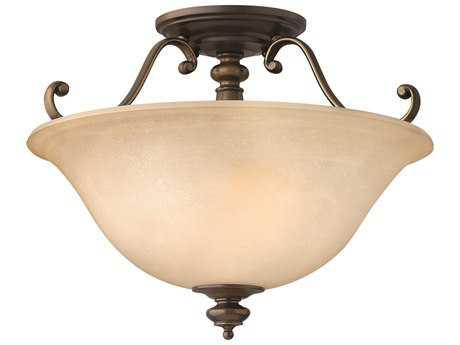 Hinkley Lighting Dunhill Royal Bronze Two-Light Semi-Flush Mount Light HY4591RY