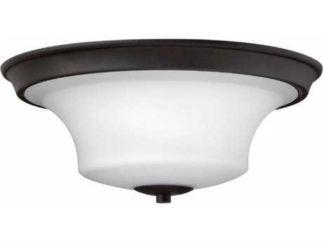 Hinkley Lighting Brantley Textured Black 17'' Wide LED Flush Mount Ceiling Light
