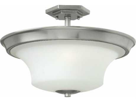 Hinkley Lighting Brantley Brushed Nickel 17'' Wide LED Semi-Flushmount Ceiling Light