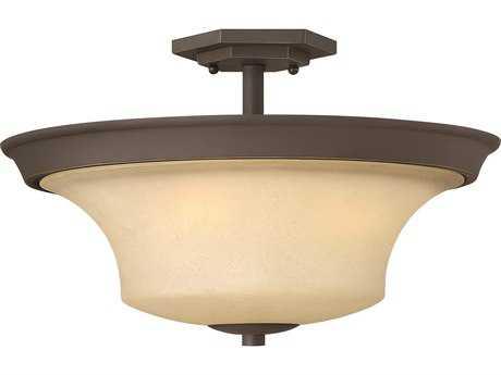 Hinkley Lighting Brantley Oil Rubbed Bronze Three-Light Incandescent Semi-Flush Mount Light HY4632OZ