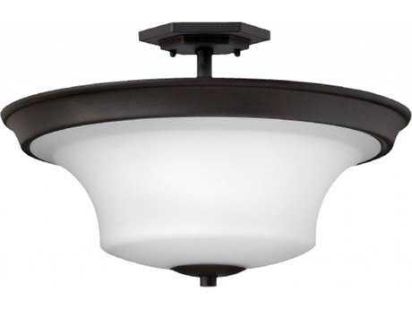 Hinkley Lighting Brantley Textured Black 17'' Wide LED Semi-Flushmount Ceiling Light