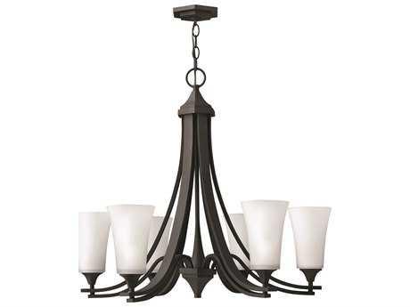 Hinkley Lighting Brantley Textured Black Six-Light 29.75 Wide Chandelier