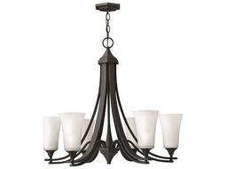 Hinkley Lighting Brantley Textured Black Six-Light 29.75 Wide Chandelier