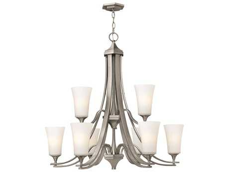 Hinkley Lighting Brantley Brushed Nickel Nine-Light 33.25 Wide Chandelier