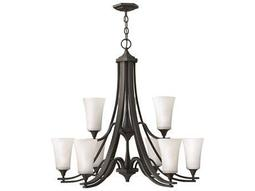 Hinkley Lighting Brantley Textured Black Nine-Light 33.25 Wide Chandelier