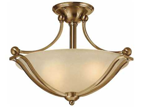 Hinkley Lighting Bolla Brushed Bronze Two-Light 19.25'' Wide GU24 CFL Semi-Flushmount Ceiling Light