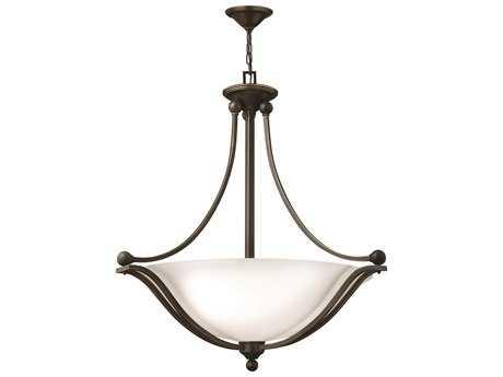Hinkley Lighting Bolla Olde Bronze Four-Light Incandescent / Opal Glass Pendant Light