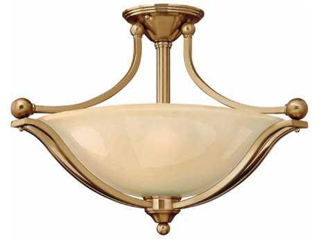 Hinkley Lighting Bolla Brushed Bronze Three-Light 23.25'' Wide GU24 CFL Semi-Flushmount Ceiling Light