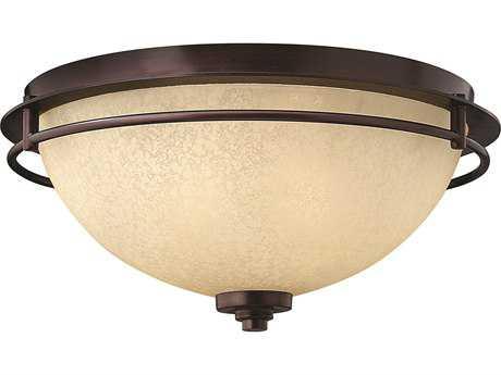 Hinkley Lighting Stowe Metro Copper Two-Light Flush Mount Light