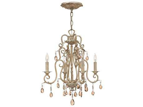 Hinkley Lighting Carlton Silver Leaf Four-Light 18 Wide Chandelier