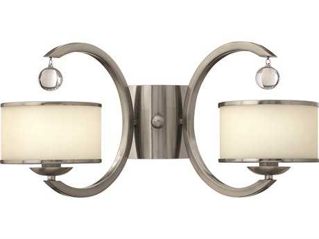 Hinkley Lighting Monaco Brushed Nickel Two-Light Wall Sconce