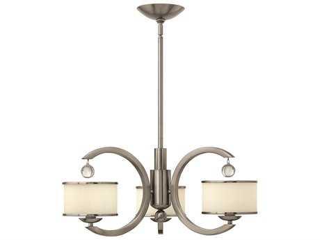 Hinkley Lighting Monaco Brushed Nickel Three-Light 25.25 Wide Chandelier