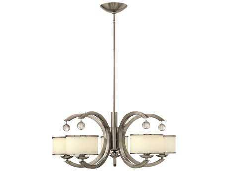 Hinkley Lighting Monaco Brushed Nickel Five-Light 27.75 Wide Chandelier