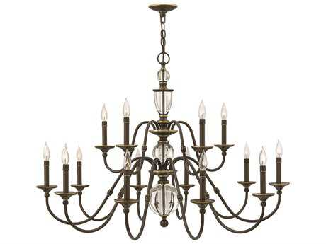Hinkley Lighting Eleanor Light Oiled Bronze 15-Light 44.25 Wide Chandelier
