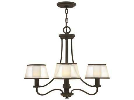 Hinkley Lighting Prescott Olde Bronze Four-Light 24 Wide Mini-Chandelier