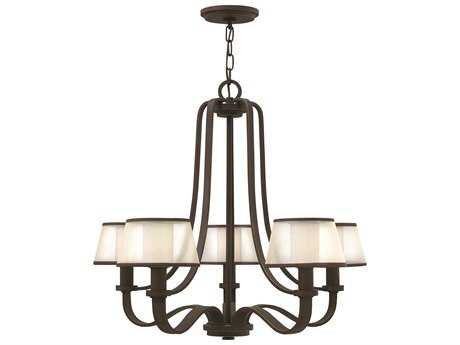 Hinkley Lighting Prescott Olde Bronze Five-Light 28 Wide Chandelier