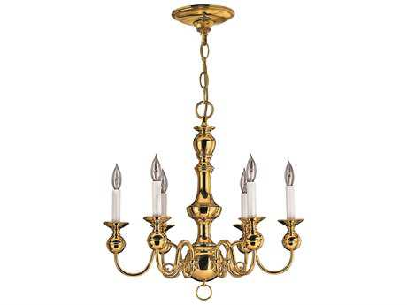 Hinkley Lighting Virginian Polished Brass Six-Light 22 Wide Chandelier