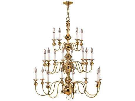 Hinkley Lighting Virginian Polished Brass 20-Light 37 Wide Chandelier