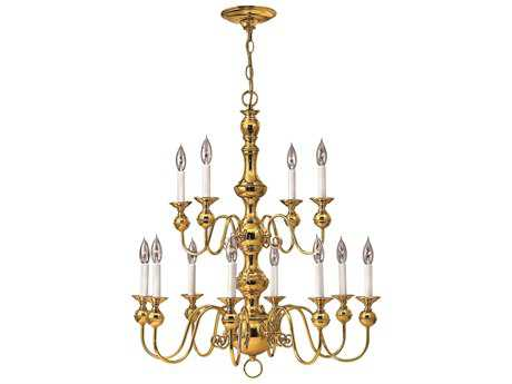 Hinkley Lighting Virginian Polished Brass 12-Light 30 Wide Chandelier