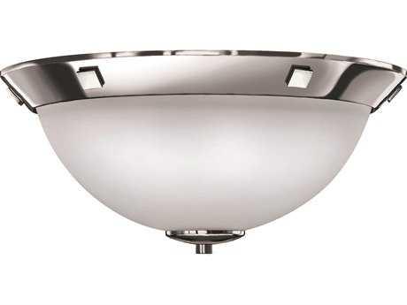 Hinkley Lighting Flush Mount Chrome Three-Light Flush Mount Light