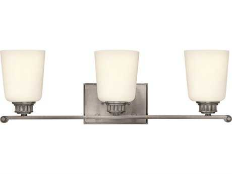 Hinkley Lighting Annette Polished Antique Nickel Three-Light Vanity Light