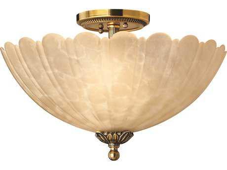Hinkley Lighting Isabella Burnished Brass Three-Light Semi-Flush Mount Light