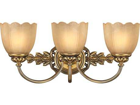 Hinkley Lighting Isabella Burnished Brass Three-Light Vanity Light
