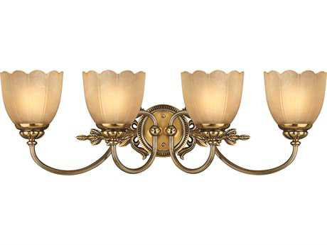 Hinkley Lighting Isabella Burnished Brass Four-Light Vanity Light