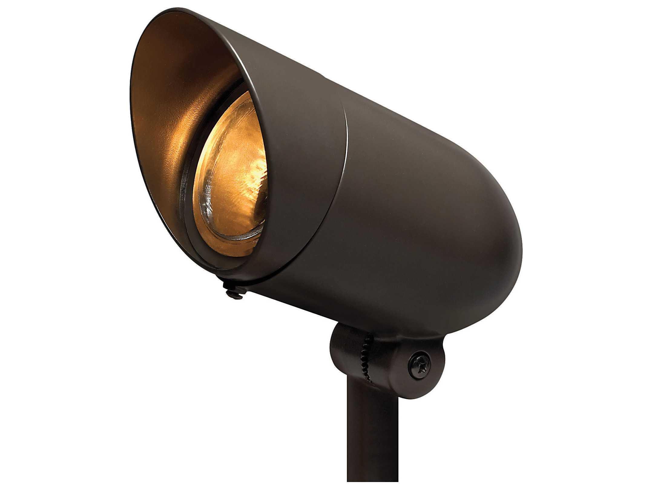 Hinkley lighting line voltage bronze 7 watt led 60 degree for Line voltage outdoor lighting