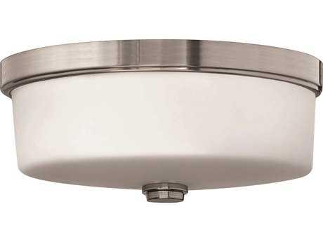 Hinkley Lighting CFL Flush Mount Brushed Nickel Three-Light CFL Flush Mount Light