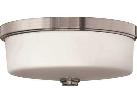 Hinkley Lighting LED Flush Mount Brushed Nickel LED Flush Mount Light
