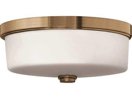 Hinkley Lighting CFL Flush Mount Brushed Bronze Three-Light CFL Flush Mount Light