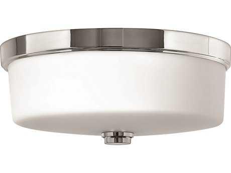 Hinkley Lighting CFL Flush Mount Chrome Three-Light CFL Flush Mount Light