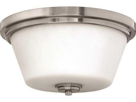 Hinkley Lighting CFL Flush Mount Brushed Nickel Two-Light CFL Flush Mount Light