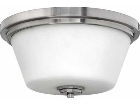 Hinkley Lighting Flush Mount Brushed Nickel 15'' Wide LED Flush Mount Ceiling Light