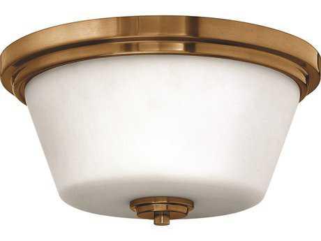 Hinkley Lighting CFL Flush Mount Brushed Bronze Two-Light CFL Flush Mount Light