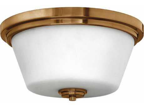 Hinkley Lighting Flush Mount Brushed Bronze 15'' Wide LED Flush Mount Ceiling Light